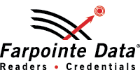 Farpointe Data logo, vertical format