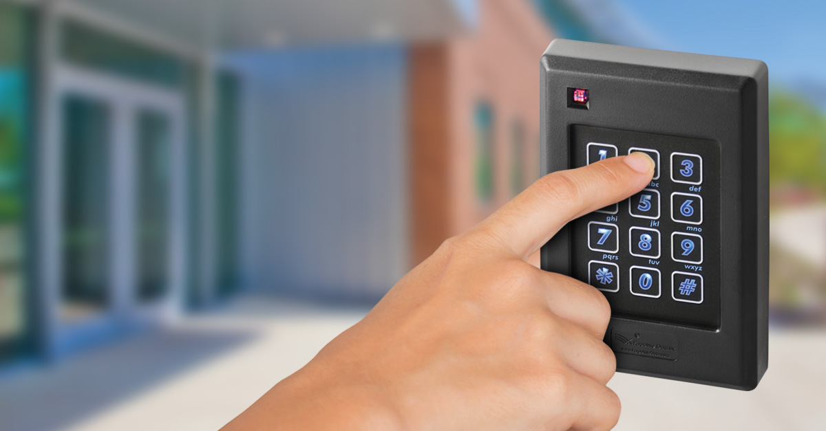 Entering a PIN on a keypad reader