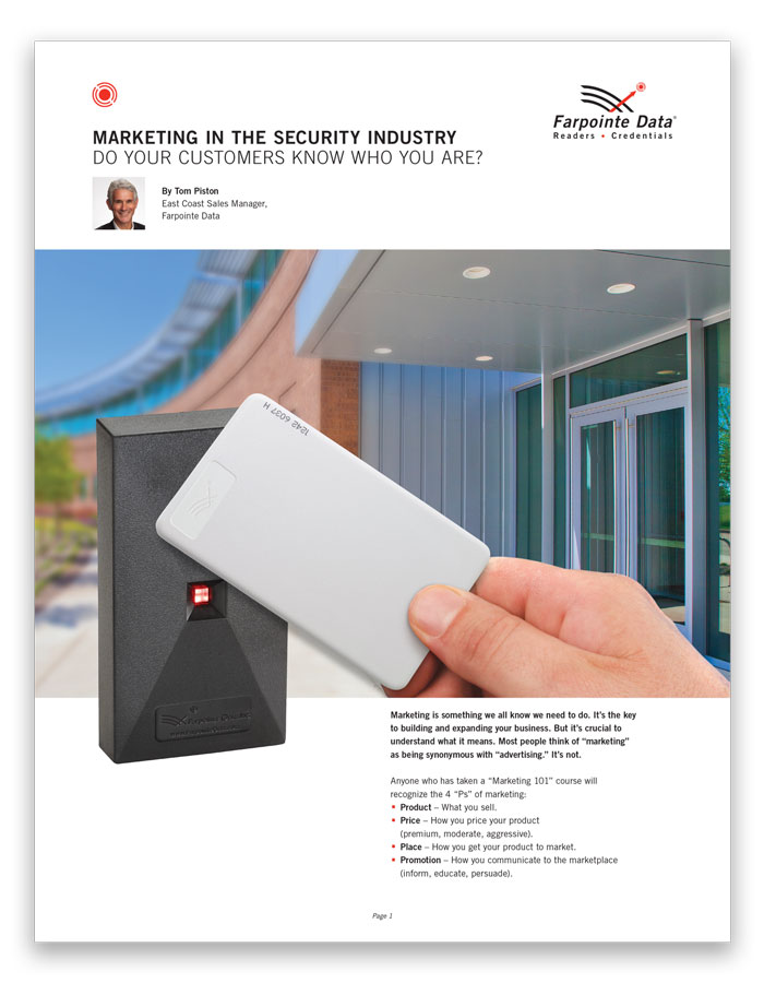 Marketing in the Security Industry